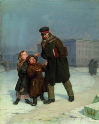 Sergeevich Firs Zhuravlev. Beggar children. State Russian Museum, St. Petersburg
