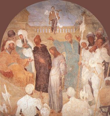 Якопо Понтормо. Страсти Христовы. Христос перед Пилатом