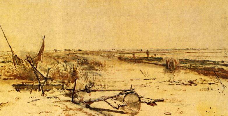 Вид на затопленное поле