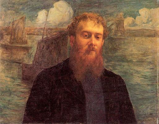 Marie Auguste René Emil Menard. Portrait of a man with a beard