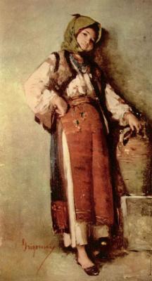 Николае Григореску. Крестьянка с кувшином