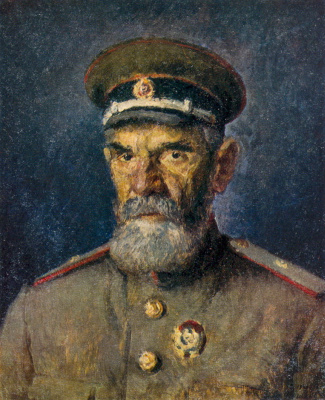 Ilya Ivanovich Mashkov. Portrait of major-General of medical services A. R. Zlobin