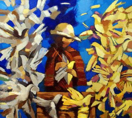 Andrey Anatolyevich Shustov. Painting birds