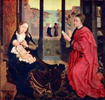 Рогир ван дер Вейден. Св. Лука, рисующий Мадонну