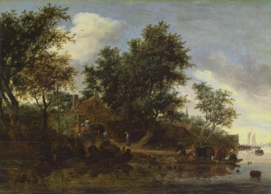 Якоб Исаакс ван Рейсдал. Переправа через реку