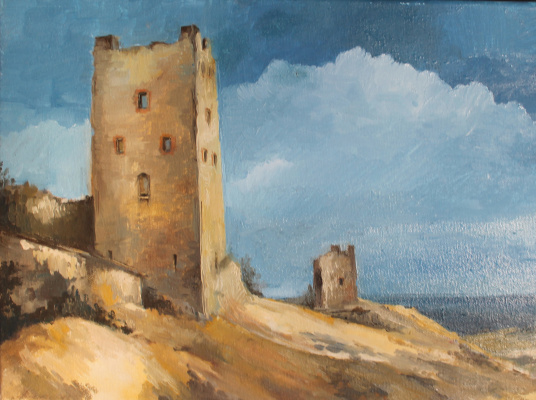 Alessia Lisenko. Genoese fortress in Feodosia