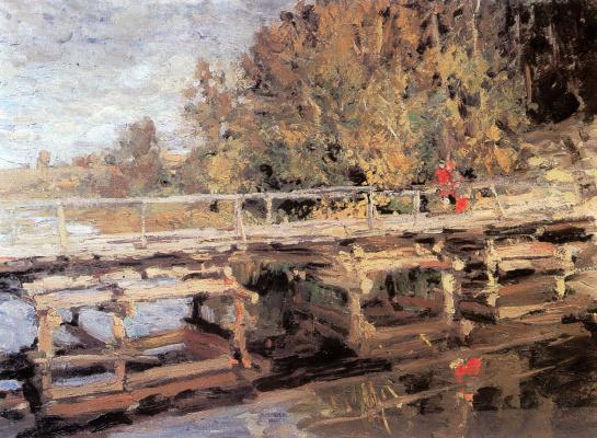 Konstantin Korovin. Autumn. On the bridge