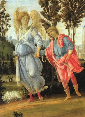 Filippino Lippi. Tobias and the angel