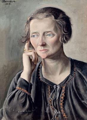 Франсуа-Эмиль Барро. Портрет женщины