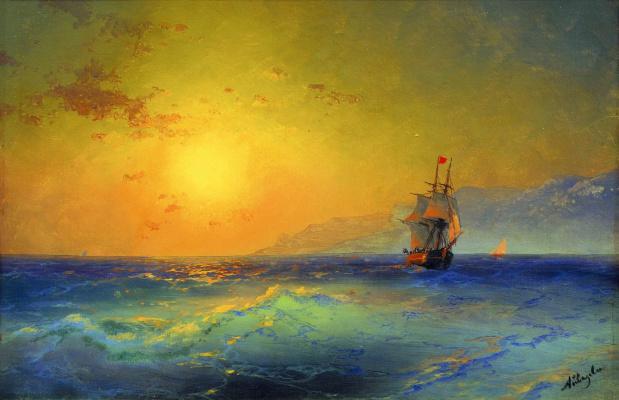 Ivan Aivazovsky. At the Crimean coast