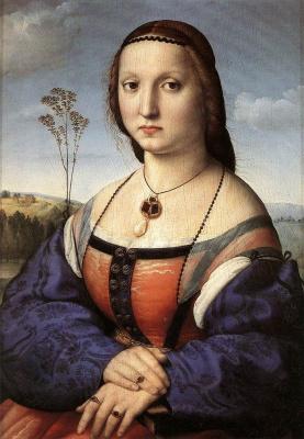 Raphael Santi. Portrait of Maddalena Doni, born. Strozzi