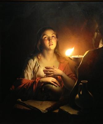 Петрус ван Шендель. Молитва Святой Марии Магдалины