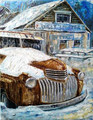 Nina Polunin. Retro Car