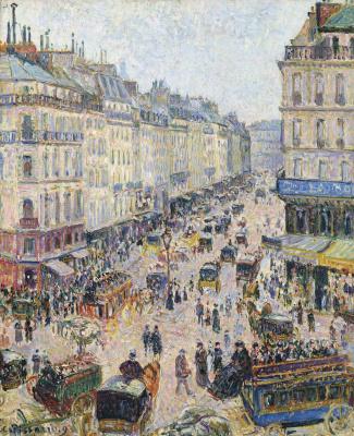 Camille Pissarro. La Rue Saint-Lazare, temps lumineux