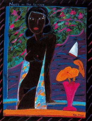 Кен Дан. Девушка и цветы в вазе