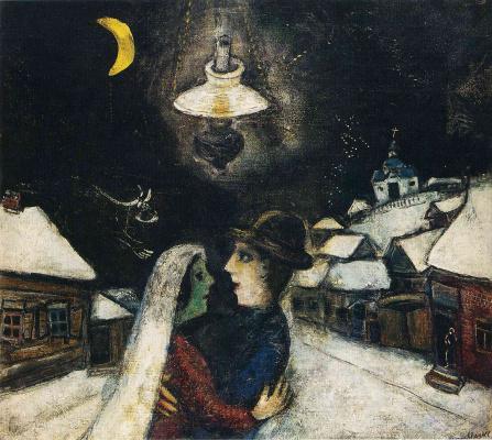Марк Захарович Шагал. Ночью