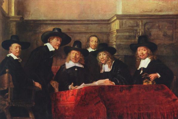 Портрет старшин цеха суконщиков