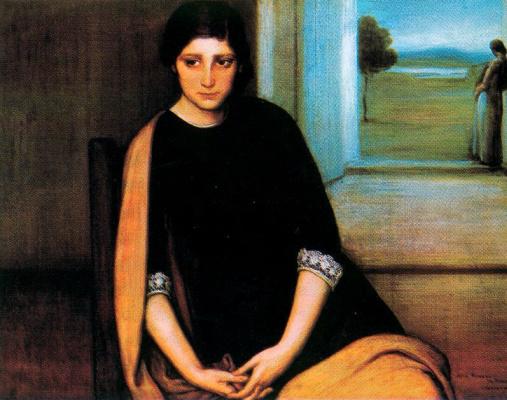 Хулио Ромеро де Торрес. Женщина в черном
