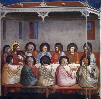 Giotto di Bondone. Last Supper Scenes from the life of Christ