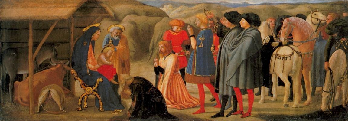 Tommaso Masaccio. Adoration of the Magi. Pizansky polyptych