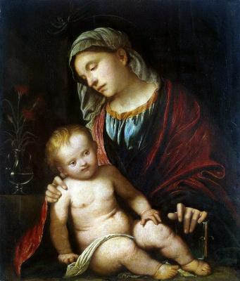 Girolamo Romanino. The Madonna and child