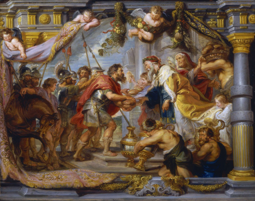Peter Paul Rubens. The meeting of Abraham and Melchizedek