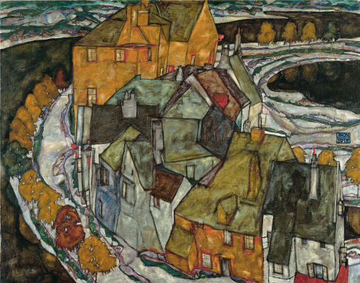 Egon Schiele. Krumau. Crescent of houses II