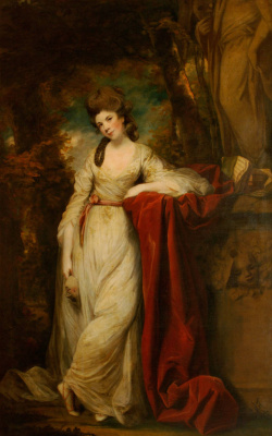 Joshua Reynolds. Mrs. Abington as the Muse of Comedy