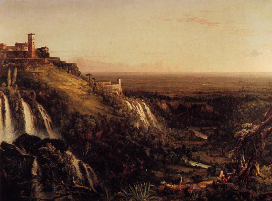 Thomas Cole. The road to Rome