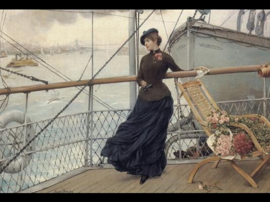 Генри Бэкон. Шотландская леди на лодке прибыла в Нью-Йорк