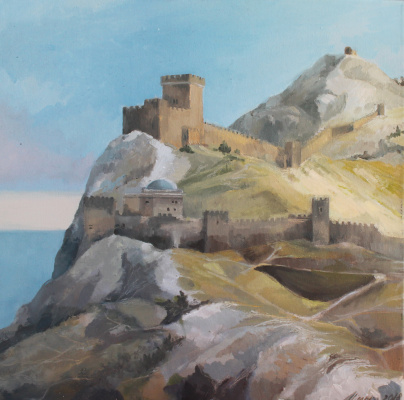 Alessia Lisenko. Genoese fortress in the city of Sudak