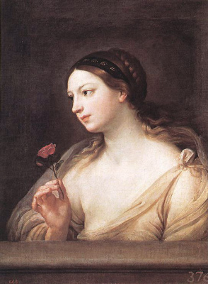 Guido Reni. Girl with a rose