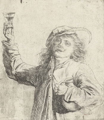 Jan Livens. A man with a glass in hand and jug under my arm