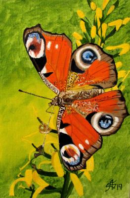 Artashes Vladimirovich Badalyan. Butterflies-7 - x-hardboard-m - 30x20