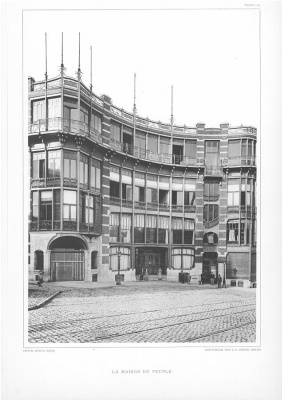 Victor Horta. People's House (destroyed)
