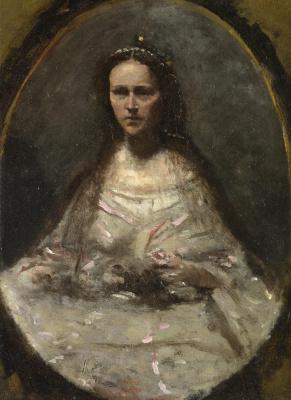 Girl in bridesmaid dress