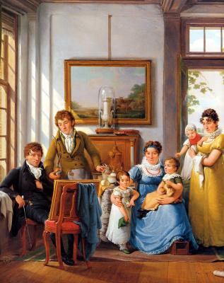Абрахам ван Стрий. Вайманс и его семья