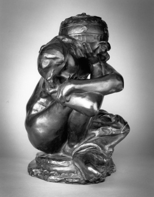 Auguste Rodin. Seated Caryatid with urn