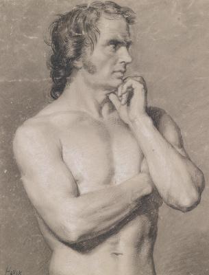 Francesco Ayets. Torso standing naked
