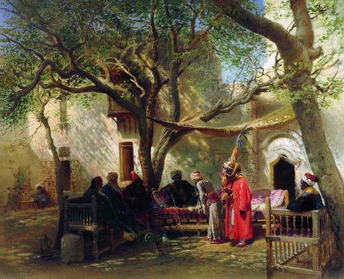 Konstantin Makovsky. Dervishes in Cairo