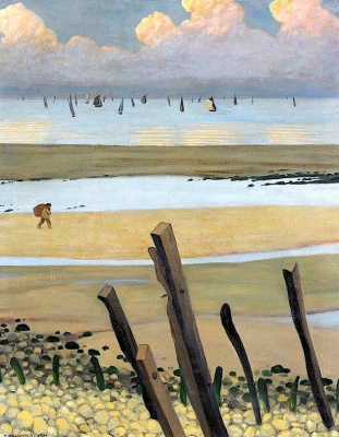 Felix Vallotton. The sea at low tide