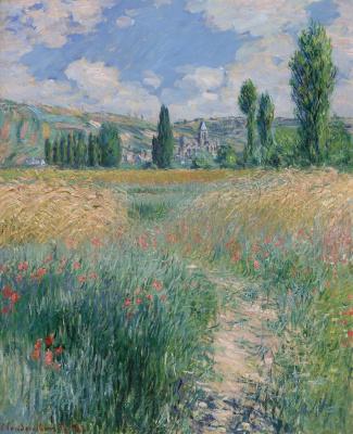 Claude Monet. Road on the island of St. Maarten, Vetei