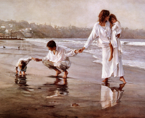 Steve Hanks. The family walk