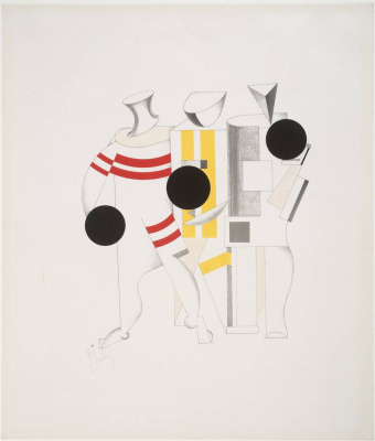 "El Lissitzky. Sketch of the costumes of athletes for the Opera ""victory over the Sun"""