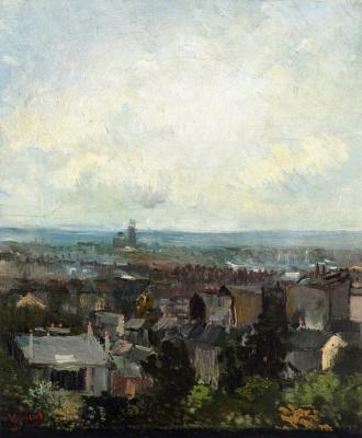 Vincent van Gogh. A roof in Paris. Spring