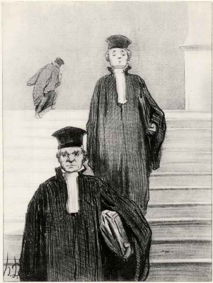 Honore Daumier. Stairs Of Palace Of Justice