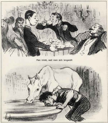 Honore Daumier. I drink from boredom. Drink of thirst