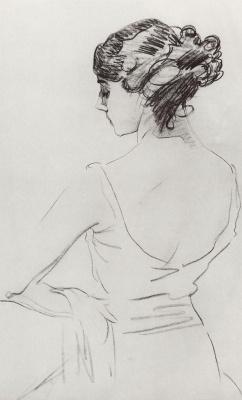 Valentin Aleksandrovich Serov. Portrait of a ballerina T. P. Karsavina