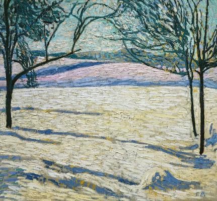 Куно Амье. Зимний пейзаж