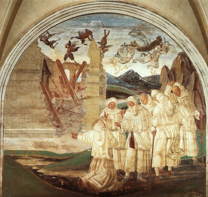 Luke Signorelli. Saints and angels